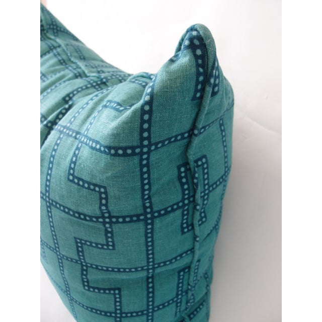 Contemporary Celerie Kemble Schumacher Blue and Green Pillow For Sale - Image 3 of 4