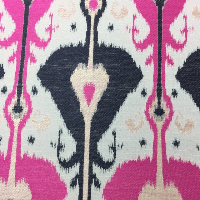 Woven Ikat Fabric - 16.5 Yards For Sale - Image 4 of 7