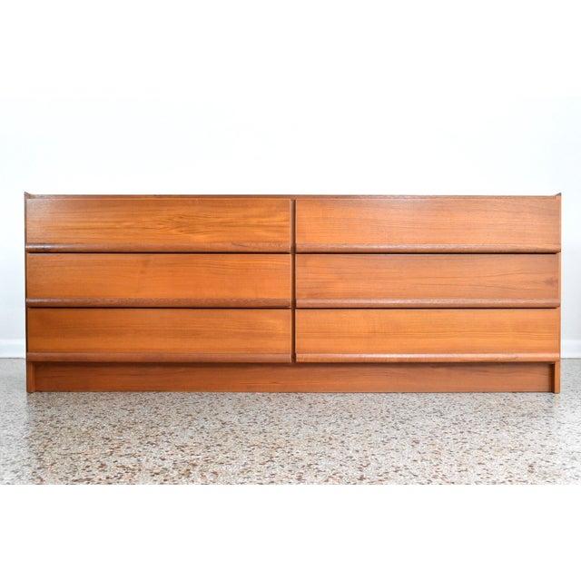Vintage Danish Modern Teak Lowboy Dresser - Image 2 of 8
