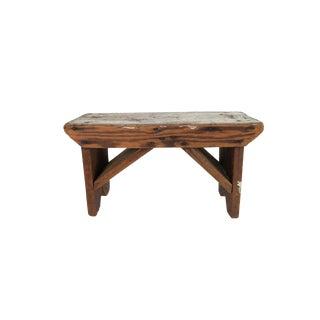 Antique Rustic Primitive Wood Milking Stool Seat