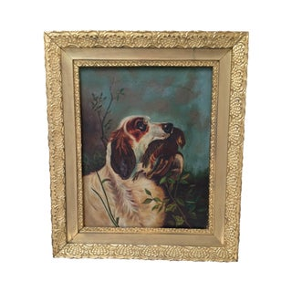 Vintage Hunting Dog Painting #2 For Sale