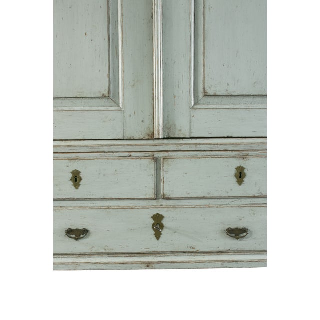 Gray 18th C. Swedish Rococo Cabinet For Sale - Image 8 of 10