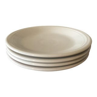 Classic White Fiestaware Salad Plates - Set of 4