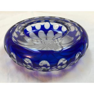 Bavaria Germany Cobalt Blue Crystal Ashtray Preview
