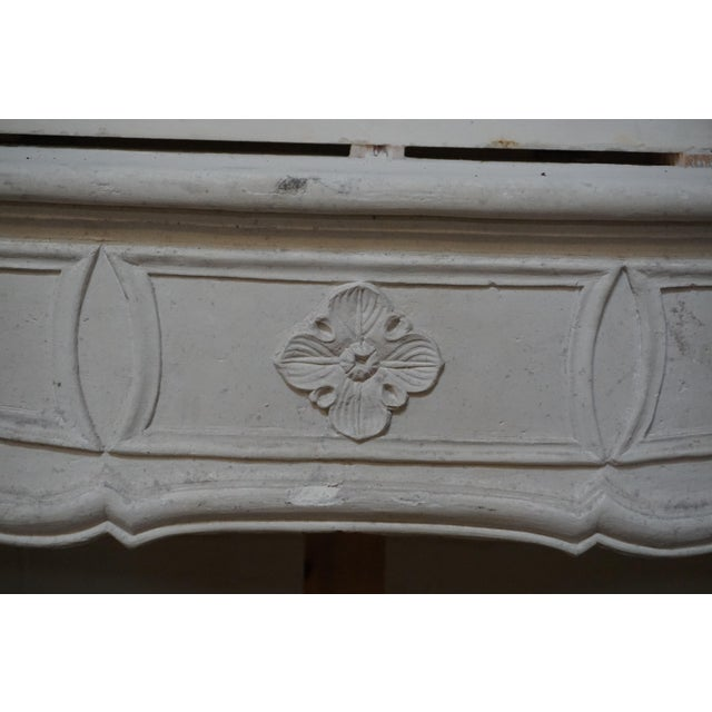 Mid 18th Century 18th Century Limestone Mantel with Trumeau For Sale - Image 5 of 7