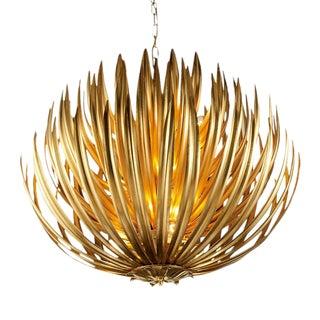 Florentine Antique Gold Leaf Artichoke Pendant Light For Sale