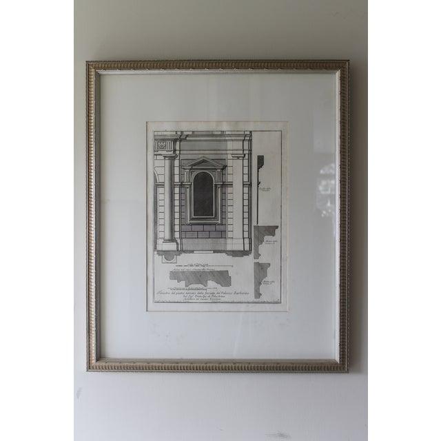 Early 19th Century Antique Architectural Finestra Del Piano Ferreno Print For Sale - Image 9 of 9
