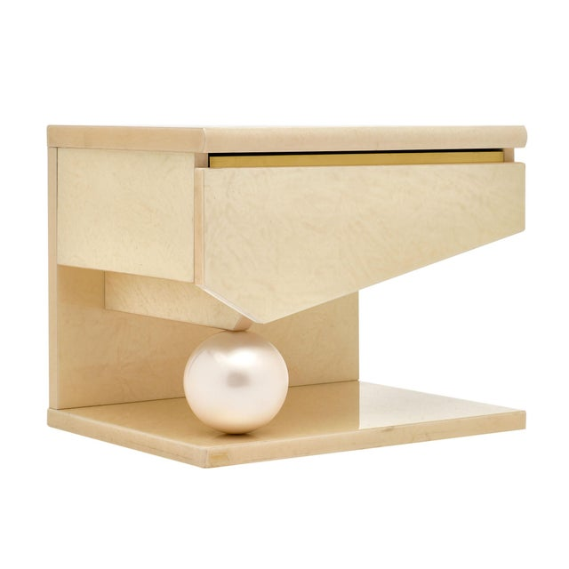 White Modernist Side Tables by Eric Maville for Jean-Claude Mahey - a Pair For Sale - Image 8 of 10
