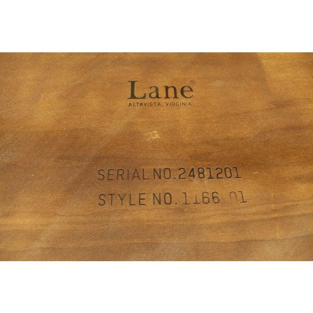 Lane Perception Mid-Century Oak Walnut X-Base Coffee Table For Sale - Image 11 of 11