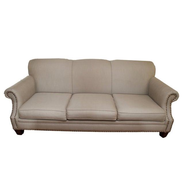 Tight Back Three Cushion Nailhead Trim Sofa - Image 1 of 7