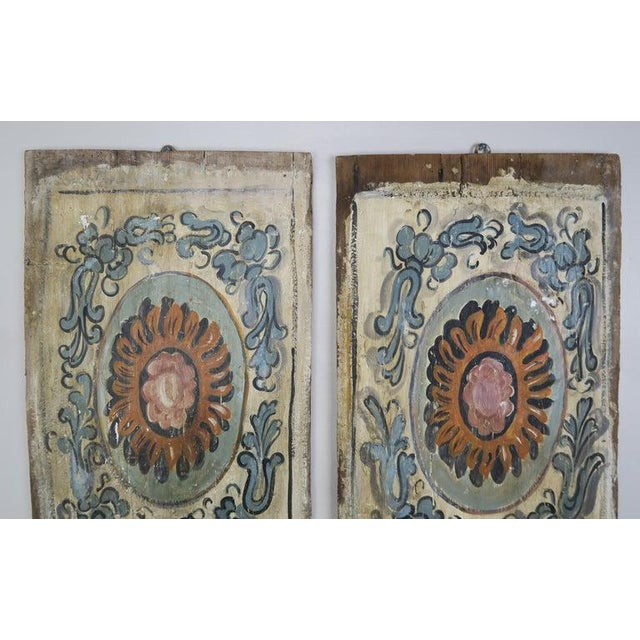 Paint Pair of 19th Century Painted Italian Panels For Sale - Image 7 of 10
