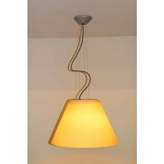 Late 20th Century Mid-Century Modern Pendant Lamp by Carlo Nason for Itre Murano Amber Glass For Sale - Image 5 of 12