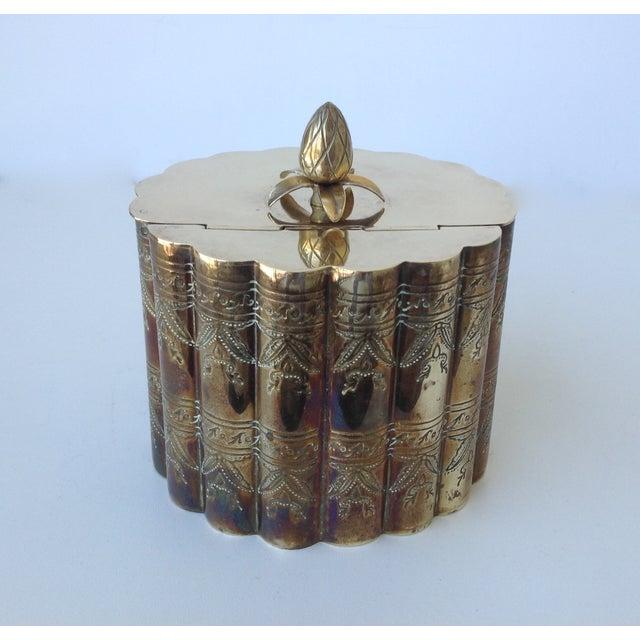 Brass English Moorish-Style Tea Container - Image 8 of 11