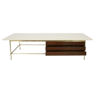 Paul McCobb for Calvin Italian Travertine Top Cocktail Table For Sale