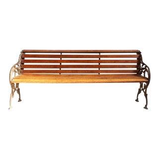 Cast Iron & Teak Park Bench
