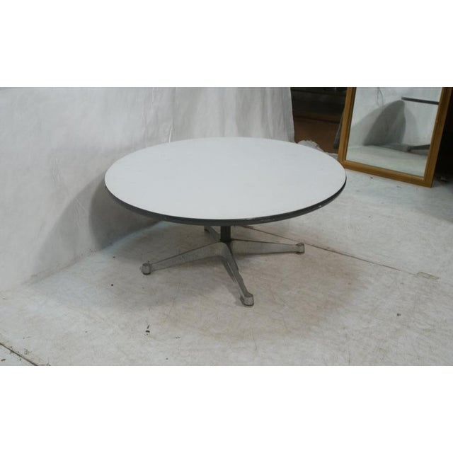 Herman Miller Pedestal Coffee Table with White Laminate Top, Circa 1960 - Image 3 of 7