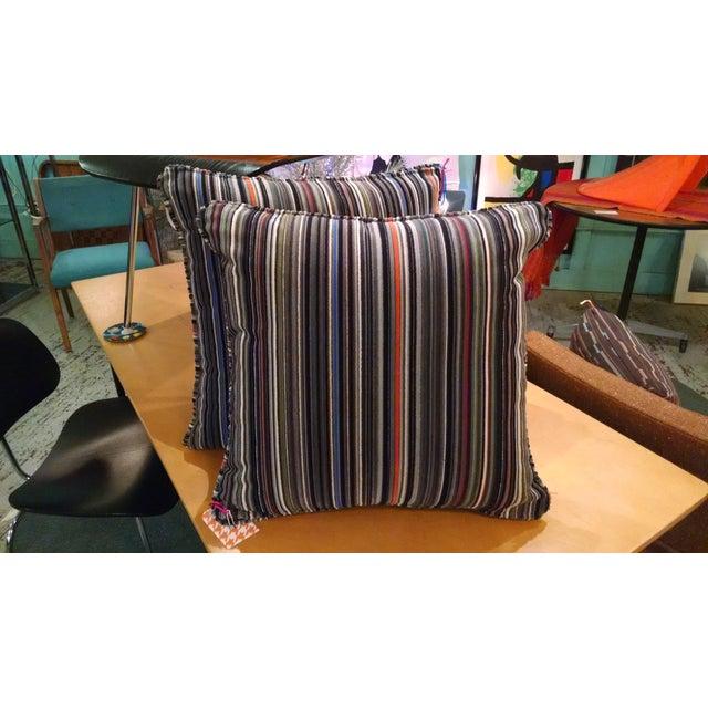 Maharam Paul Smith Epingle Stripe Pillows - A Pair - Image 2 of 6