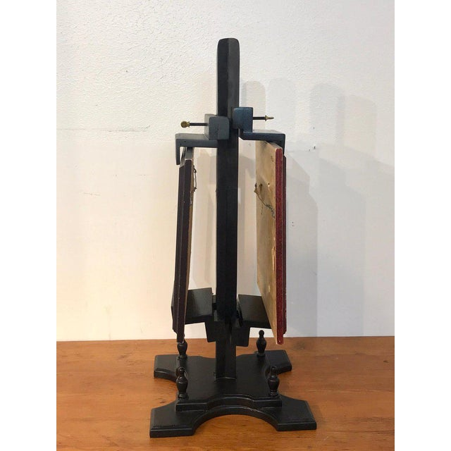 Brass Regency Style Ebonized Dual Sided Table Easel For Sale - Image 7 of 11