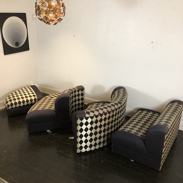 Wood 1980s Vladimir Kagan Curved 5 Piece Sofa for Weiman For Sale - Image 7 of 13