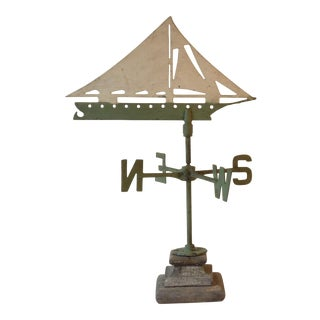 Mid-Century Sailboat Weathervane