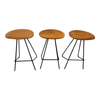 Anthropologie Perch Counter Stools- Set of 3 For Sale