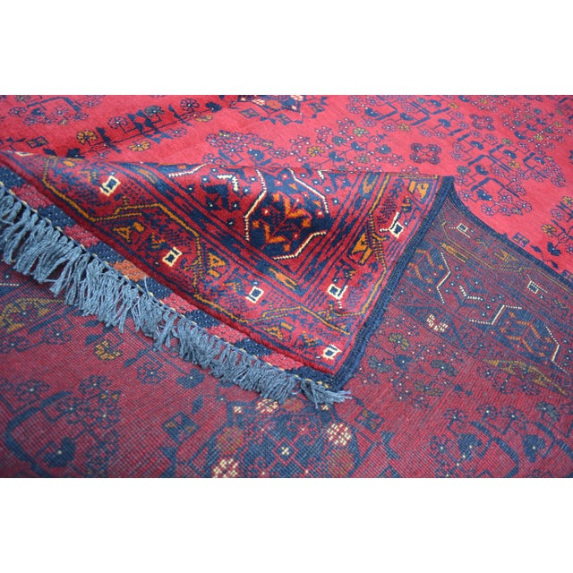 Tribal Afghan Tribal Red Rug For Sale - Image 3 of 9