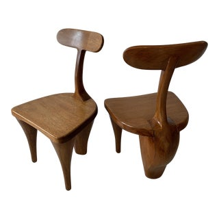 "Vintage Mid Century ""Botero"" Styled Chairs- A Pair For Sale"