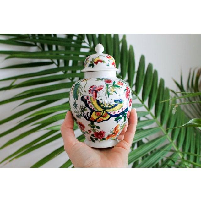 Colorful Vintage Lidded Ginger Jar For Sale - Image 10 of 10