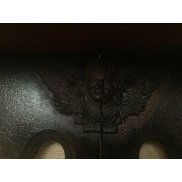 Antique Masonic Freemasonry Wood Shelf - Image 7 of 11
