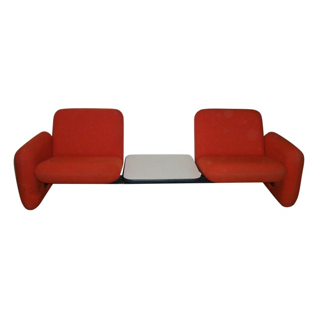 Vintage Herman Miller Chiclet Loveseat Couch Sofa For Sale