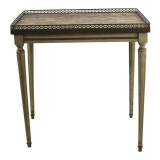 French Country Marble Side Table For Sale