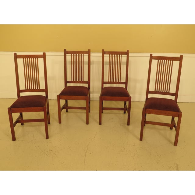 Stickley Mission Oak Dining Room Chairs - Set of 4 For Sale - Image 13 of 13