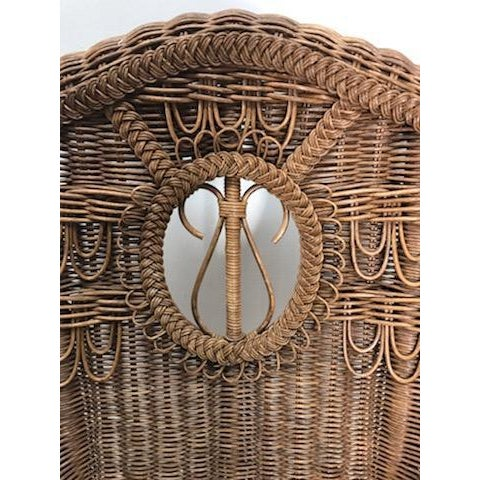 Vintage Henry Link Rattan Wicker Rocking Chair For Sale In West Palm - Image 6 of 7