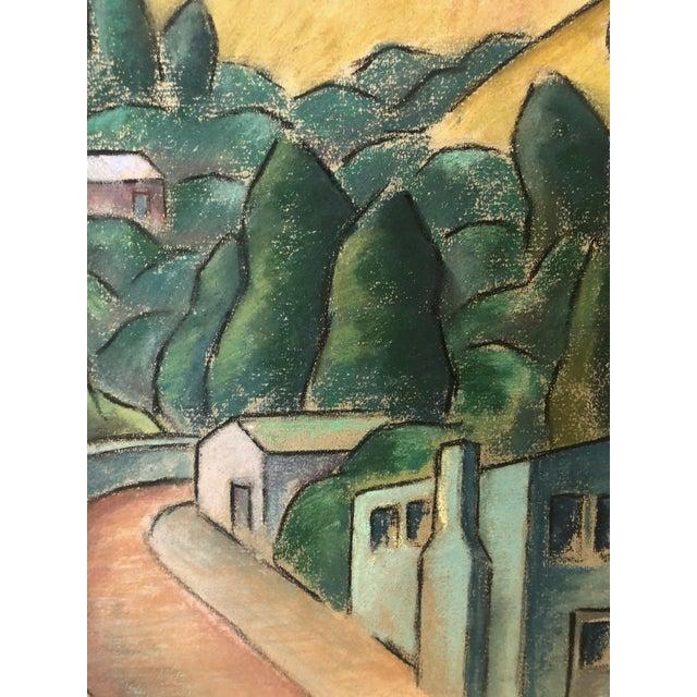 """Chalk 1930s Signed Chalk California Landscape """"Larkspur"""" For Sale - Image 7 of 8"""