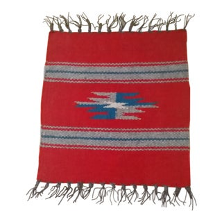 Late 20th Century Vintage Chimayo Spanish Wool Mat For Sale