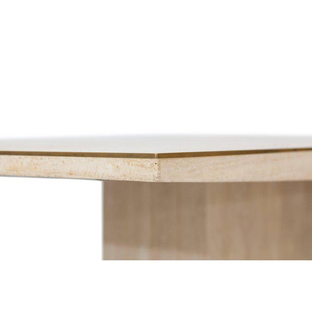 Willy Rizzo Travertine Dining Table For Sale - Image 6 of 8