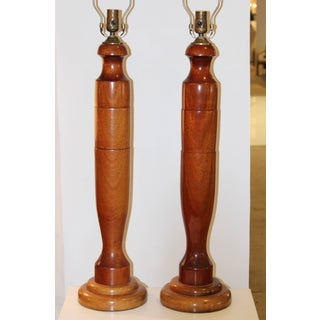 1940s, Tall Walnut Table Lamps Preview