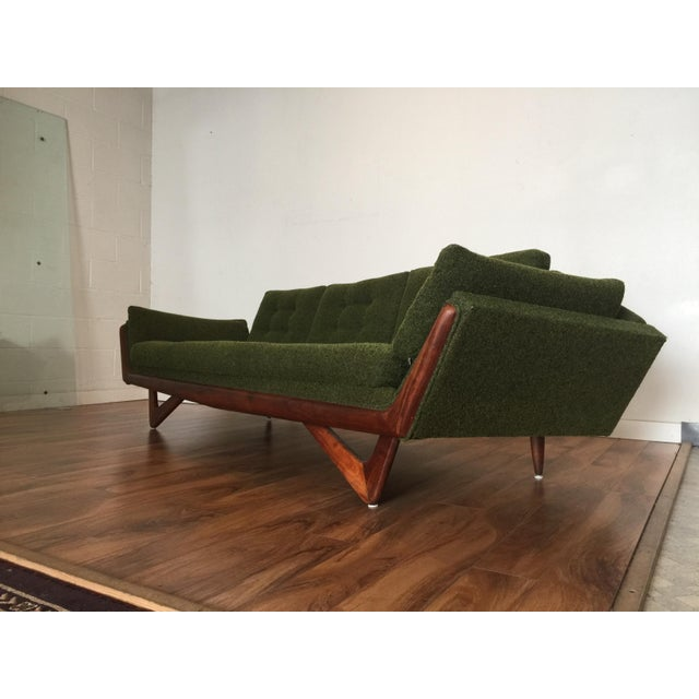 Adrian Pearsall Craft Associates Mid-Century Gondola Sofa - Image 8 of 11