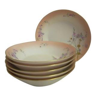 1910s Limoges Dessert Bowls - Set of 6 For Sale