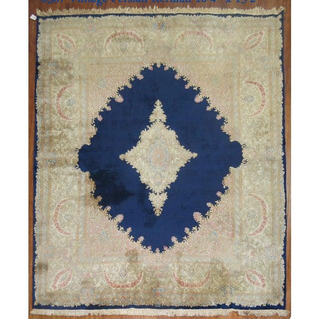 Vintage Persian Kerman Rug - 10'4'' x 13'2'' - Image 2 of 10