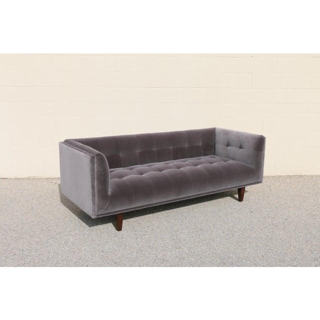 Modern Velvet Tufted Sofa - Image 5 of 10
