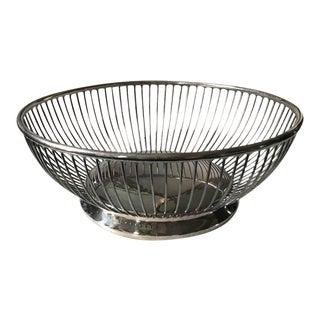 Mid Century Gorham Silver Plate Basket, Bowl