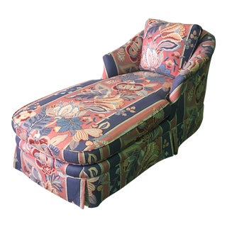 Modern Floral Chaise Lounge For Sale