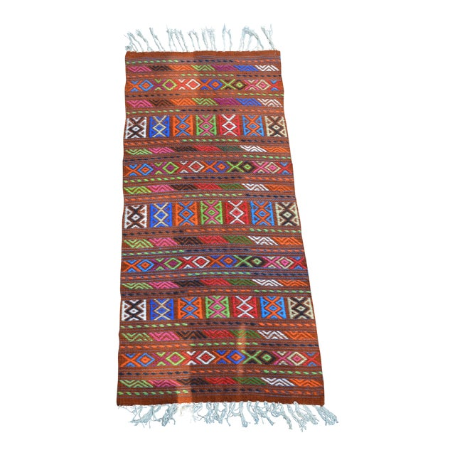 Peruvian Style Patterned Rug - 1′9″ × 4′3″ - Image 1 of 7