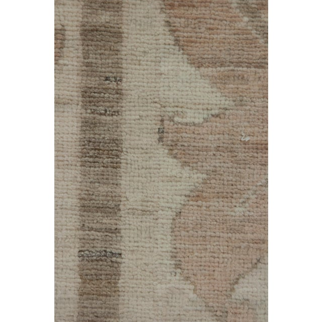 """Arts & Crafts Contemporary Arts & Crafts Pink Hand-Knotted Rug- 6' 1"""" X 9' 4"""" For Sale - Image 3 of 4"""