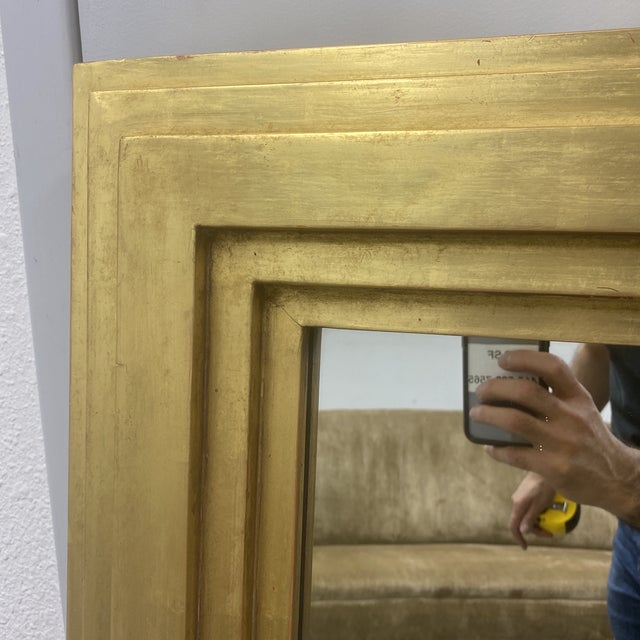 City C Studio Custom Gold Gilt Tiered Framed Mirror For Sale In San Francisco - Image 6 of 10
