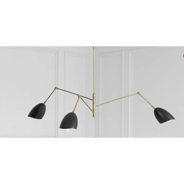 Visual Comfort Aerin Triple-Arm Chandelier For Sale In Chicago - Image 6 of 7