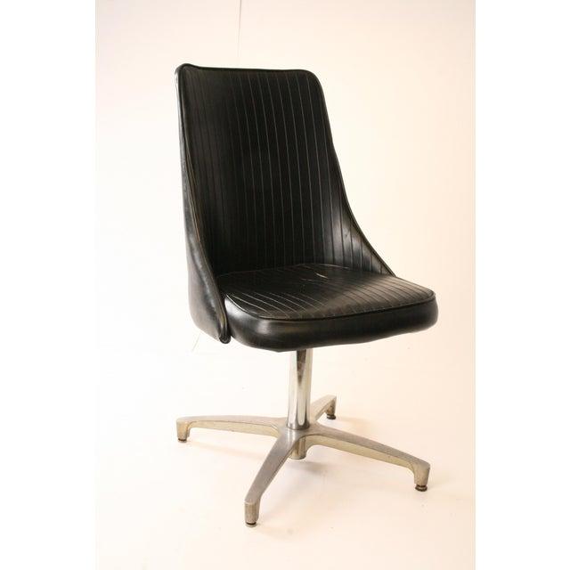 Fine Chromcraft Mid Century Black Swivel Dining Chair Machost Co Dining Chair Design Ideas Machostcouk