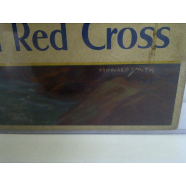 Vintage WWII American Red Cross Poster For Sale - Image 5 of 6