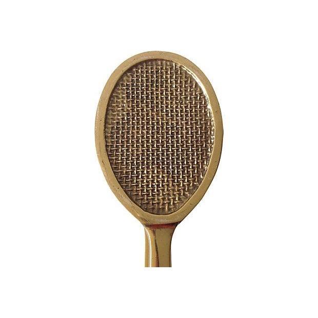 Vintage Solid Brass Tennis Racket Door Knocker For Sale - Image 5 of 5